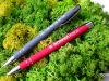 długopisy gumowane ze strebrnym grawerem