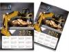 projekt i realizacja kalendarza listwowanego A2