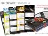 projekt i realizacja kalendarzy trójdzielnych z wypukłą główką