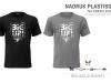 t-shirt męski z nadrukiem plastisol