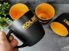 kubki z piaskowaniem barwionym dla firmy Kolbet