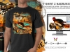 projekt i wykonanie nadruku na T-shirt